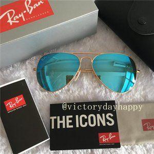 Ray-Ban Rb3025 Classic Mirrored Aviator Sunglasse